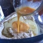 Apple Muffins Wet Ingredients - Oil, Milk, Beaten Egg