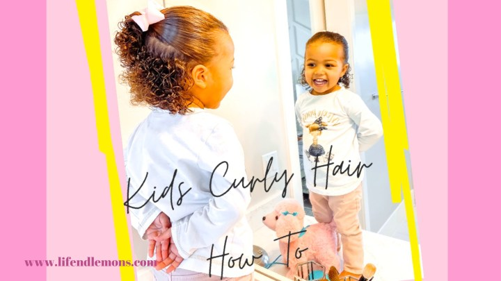 Easy Hair Do for Kids with Curly Hair
