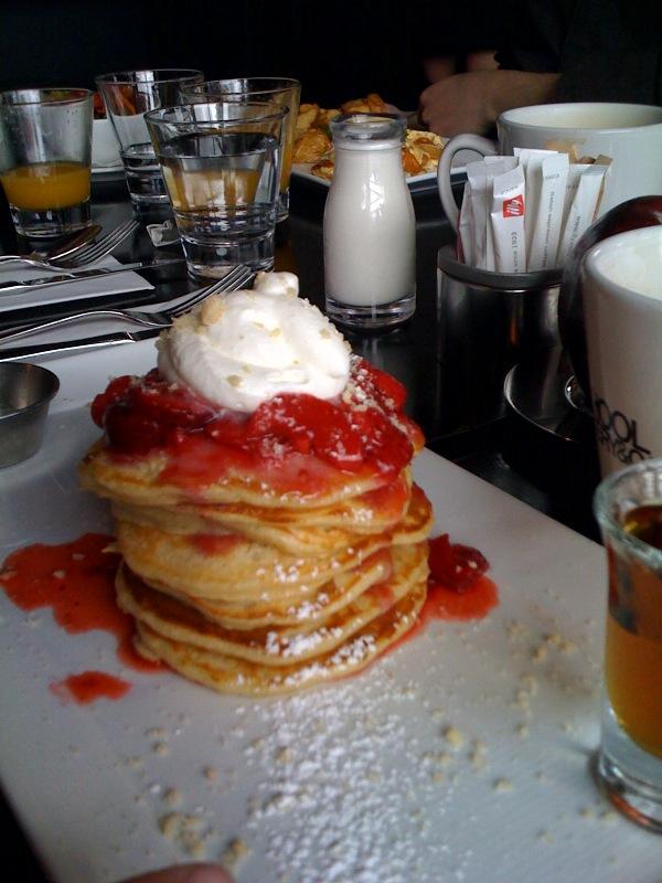 Cari's strawberry shortcake buttermilk pancakes