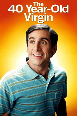"Poster for the movie ""The 40 Year Old Virgin"""