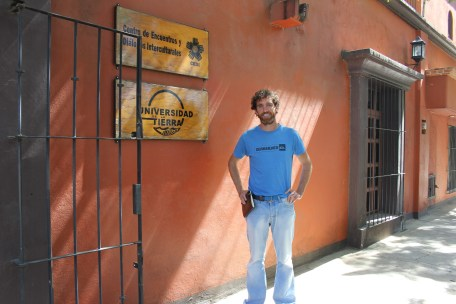 Neal outside of Unitierra Oaxaca