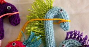 Candy Cane Hobby Horses to Knit
