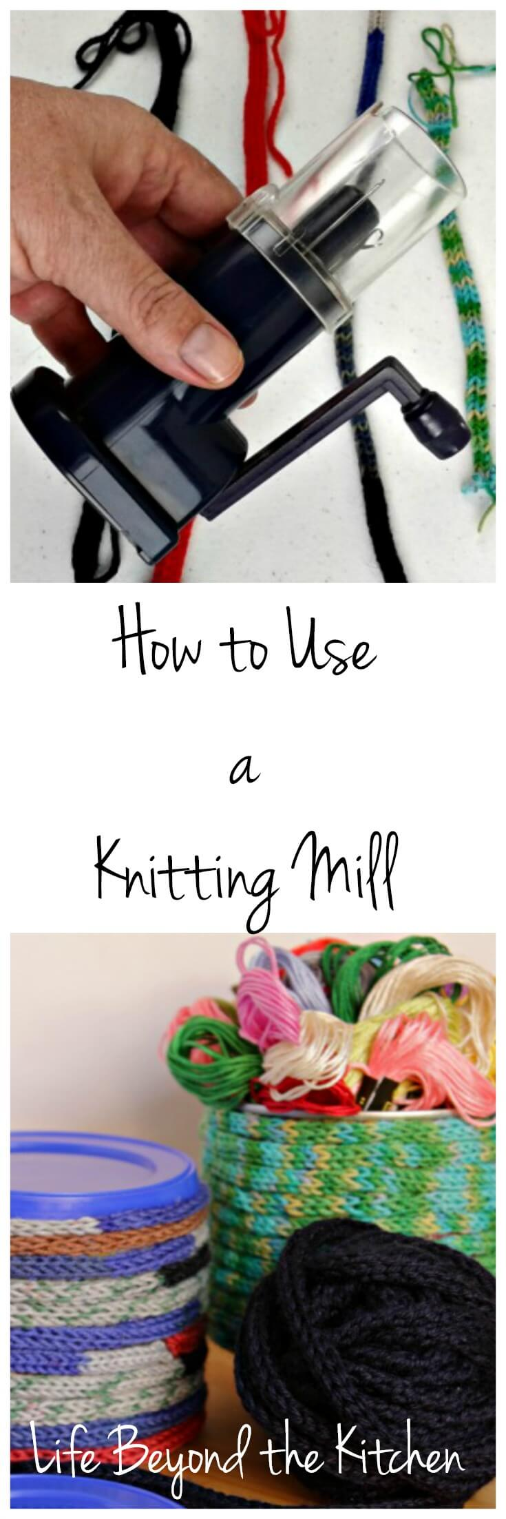 Learn how to use a #knitting mill. No previous #knit or #crochet skill required! The cord produced can be used in a variety of #craft projects.