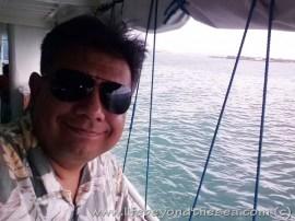 Taking a look around as we leave Cebu harbor behind.
