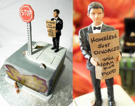 Kue tart perceraian yang unik