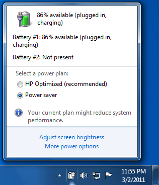pesan Consider Replacing Your Battery tidak lagi muncul