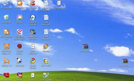mengubah ukuran icon di desktop windows