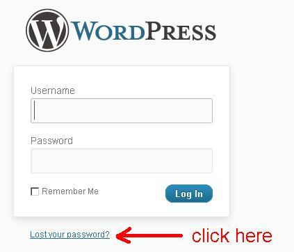 link untuk reset password wordpress