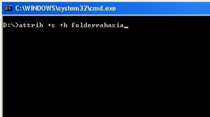 membuat folder super hidden