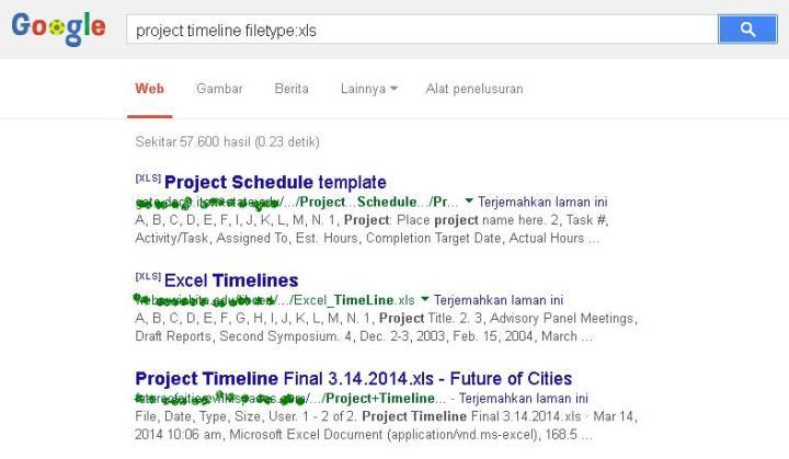 Mencari Dokumen Non-HTML Dengan Menggunakan Fitur File Types Pada Google