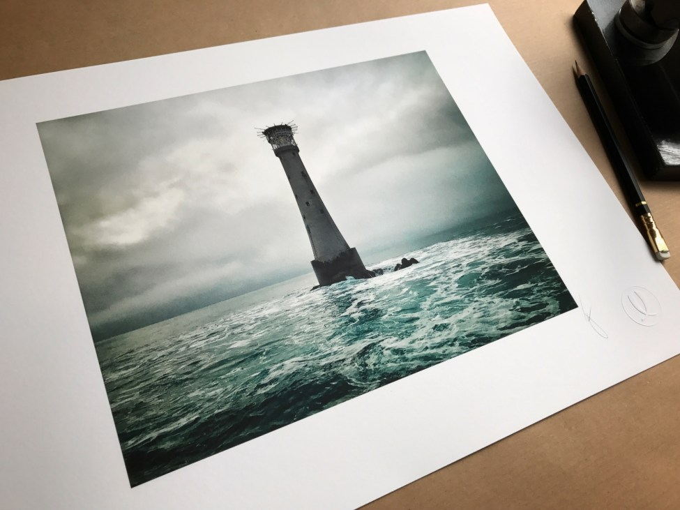 Bishop Rock Lighthouse by Jack Lowe