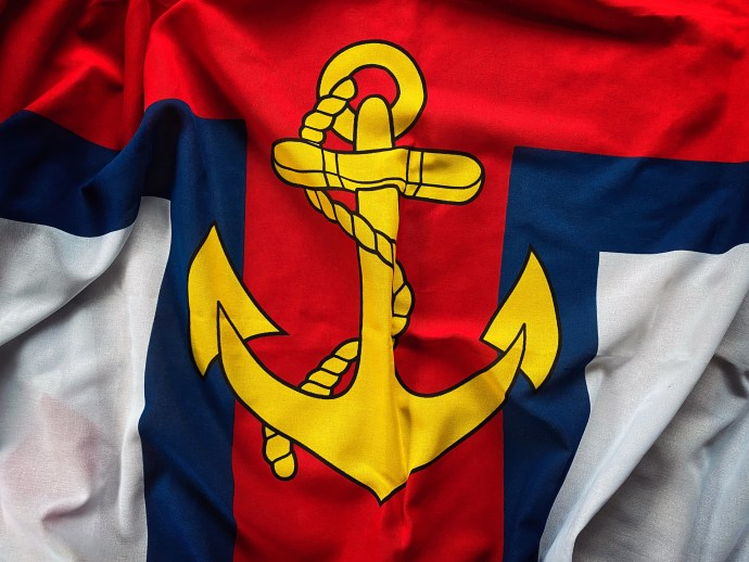 RNLI Flag anchor by Jack Lowe