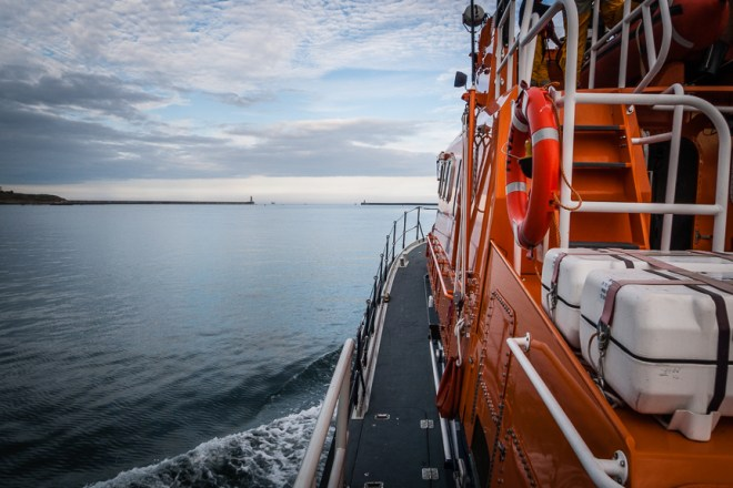 The RNLI Tynemouth Severn Class Lifeboat, RNLB 'Spirit of Northumberland'
