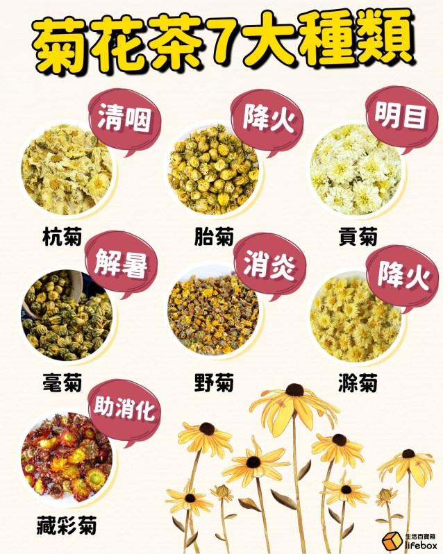 菊花茶7大種類