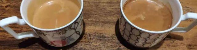 左:長杯咖啡(Lungo)右:澳黑咖啡