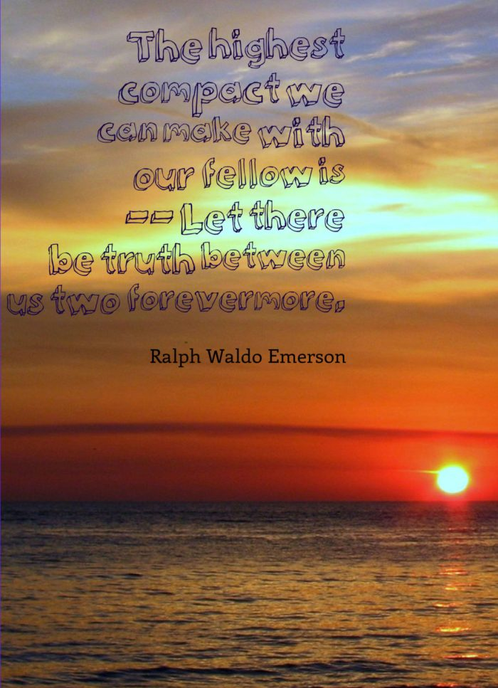 sunset, beautiful sunset, sunset over ocean, orange sunset, quote, trust, ralph waldo emerson quote