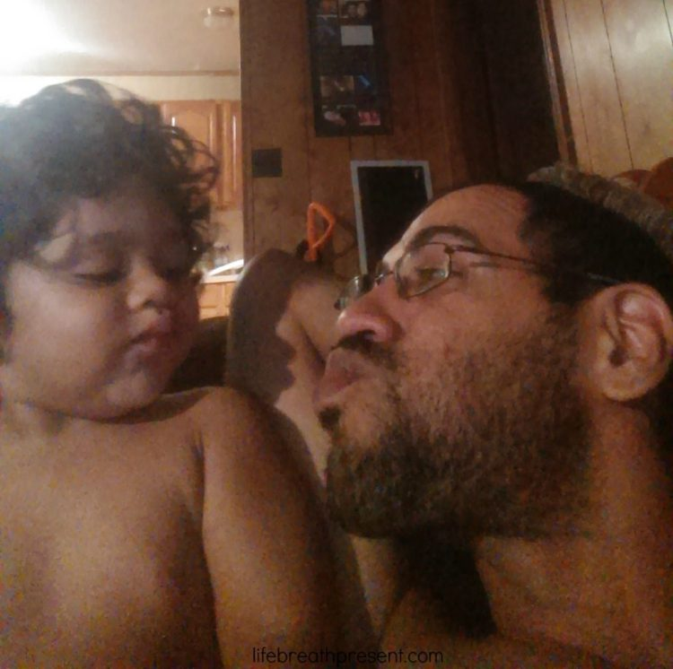 unedited, photos, photography, fun, playing, family, dad kissing baby
