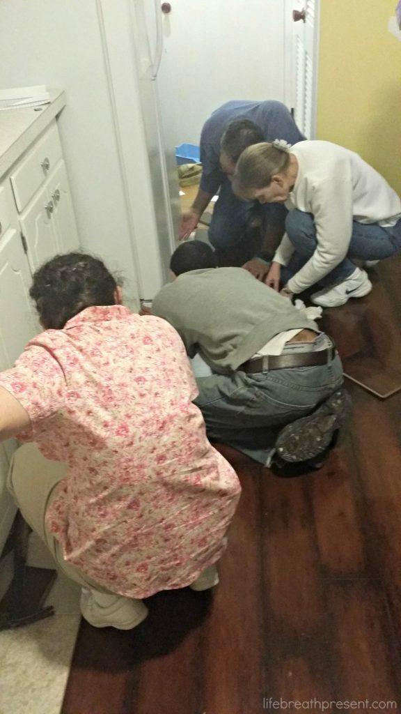 updating, remodeling, flooring, christmas 2014, family