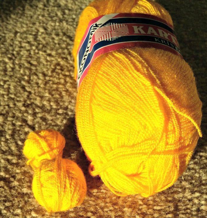 yellow sock yarn