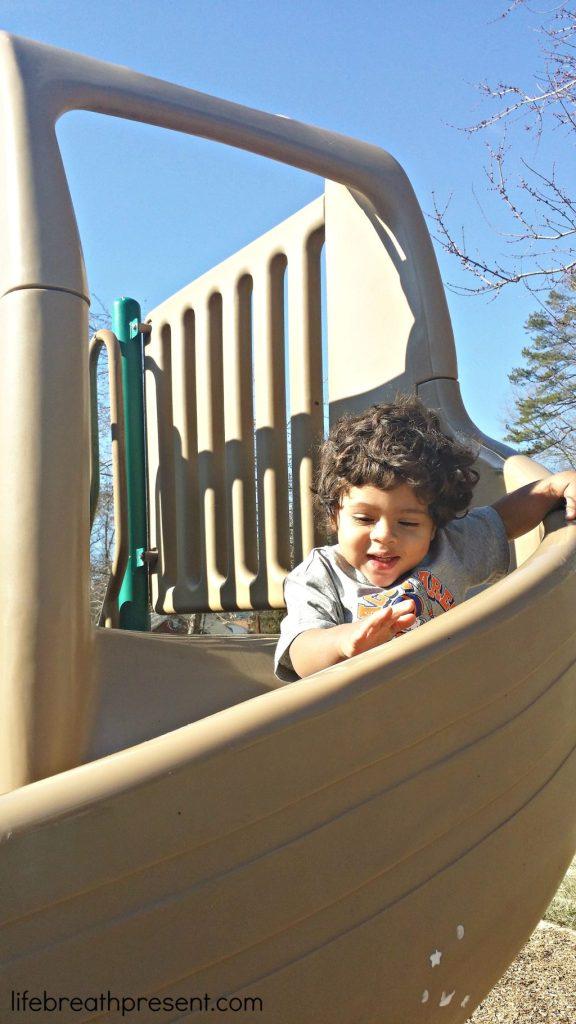 slide, park, neighborhood, park, playing, play, toddler, fun, winter