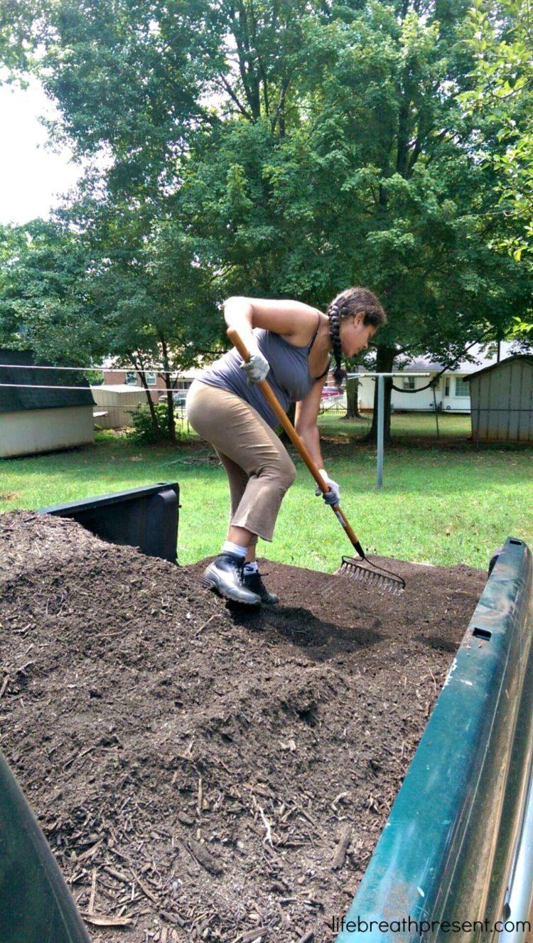 garden, gardening, family, pregnant, second trimester, back to eden, learning, beginning