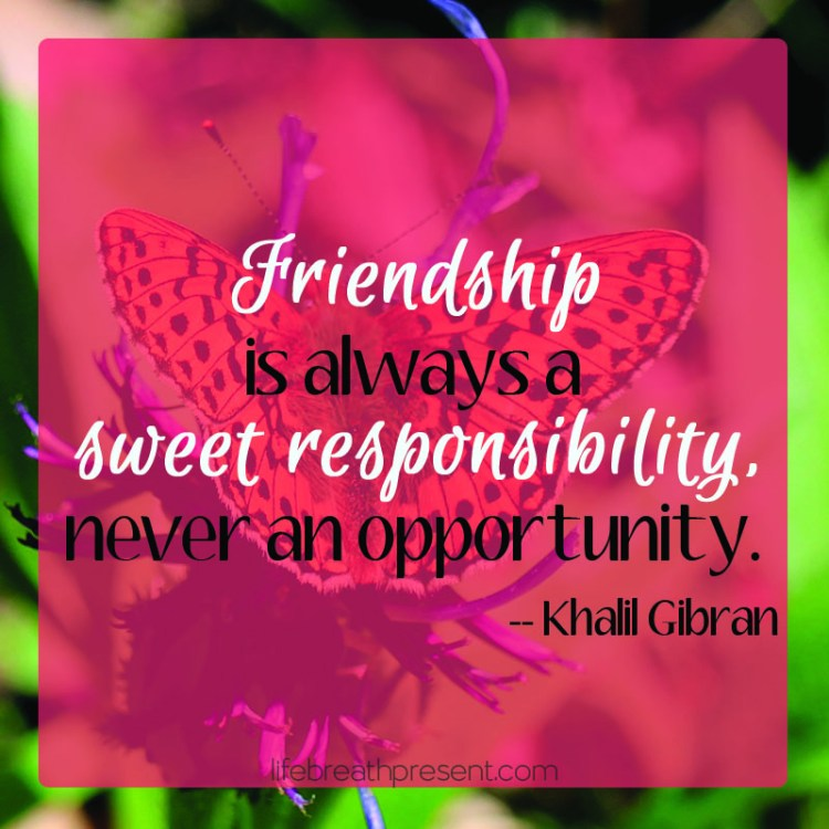 friendship, responsibility, quote, khalil gibran, butterfly