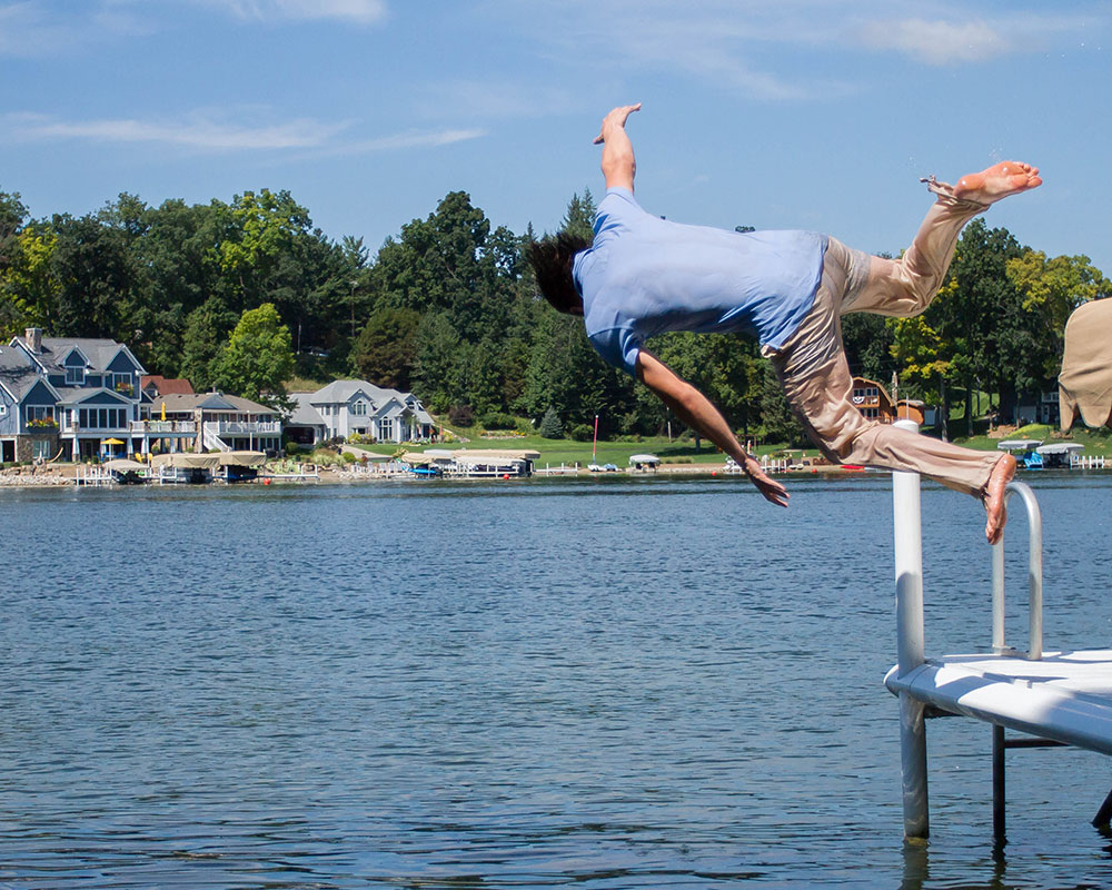 Jumping off Dock