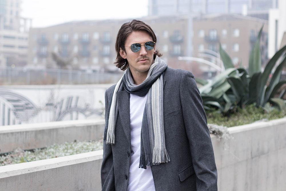 Dark Grey Men's Winter Overcoat 2017