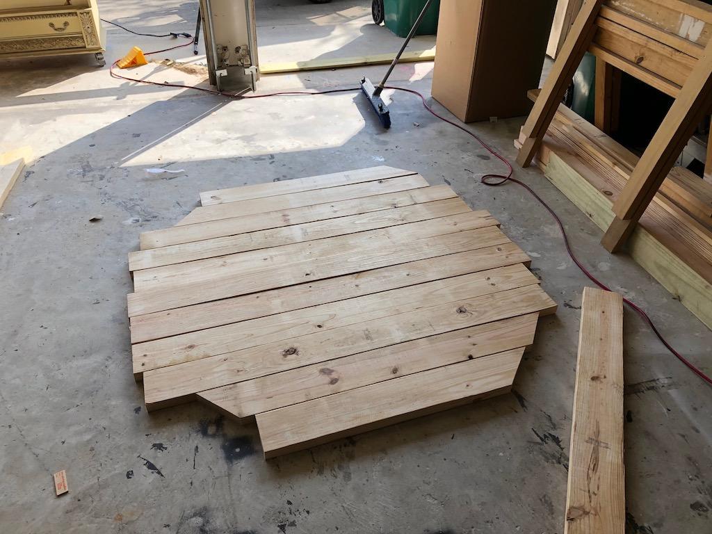 diy round farmhouse table with free