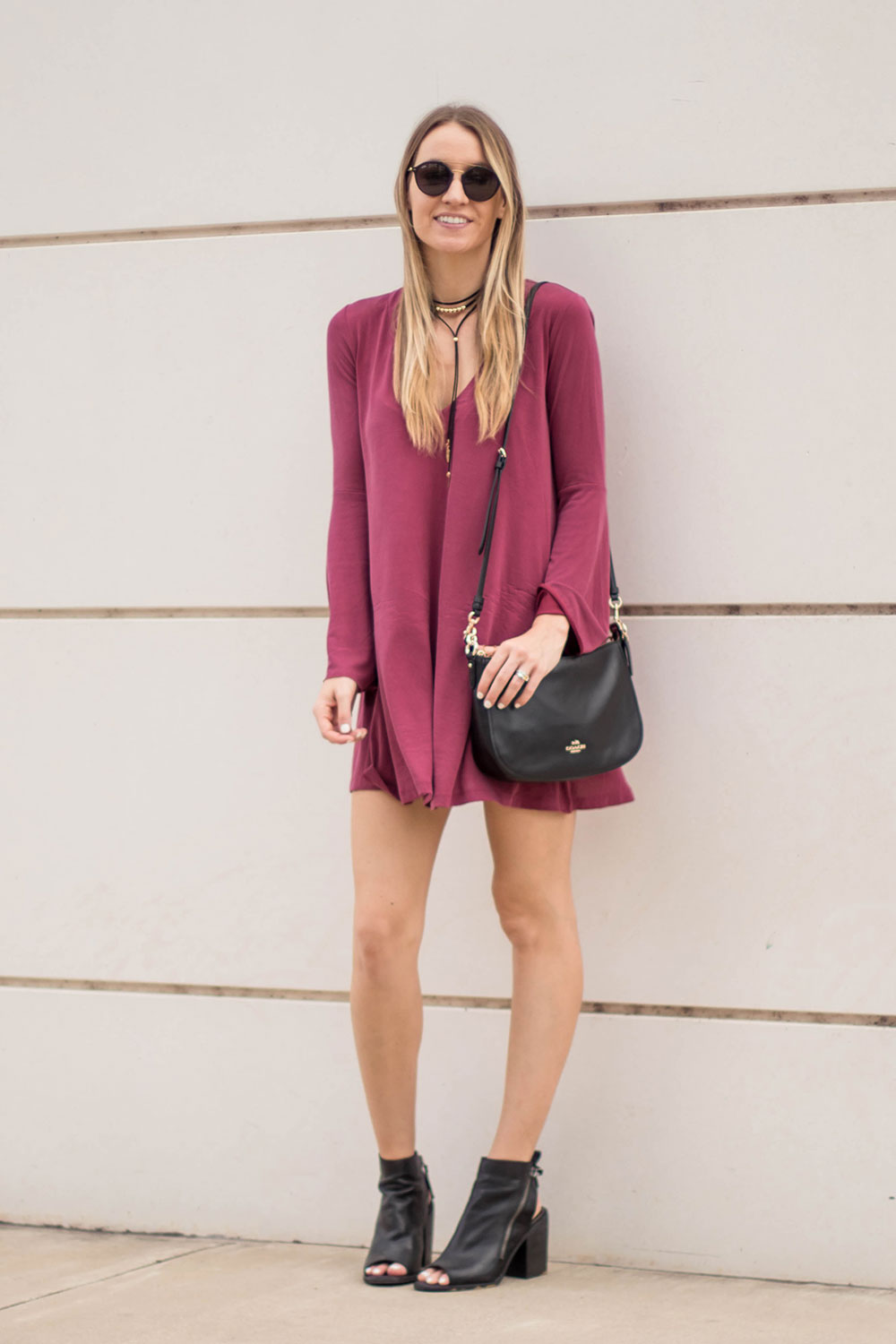 Bell Sleeve Dress Amp The Perfect Crossbody Bag Life By Lee