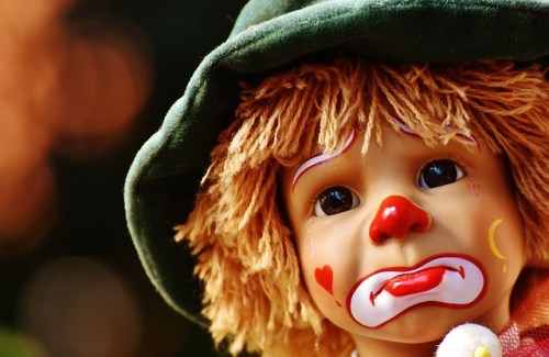 bad mood clown doll