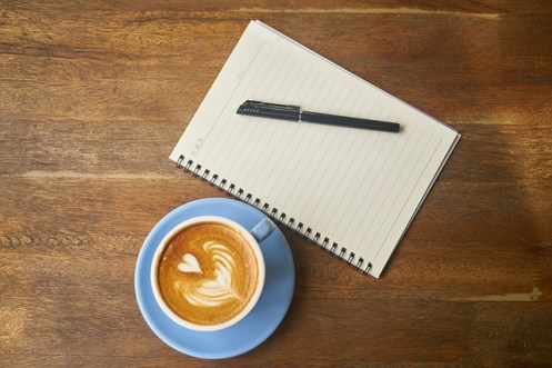 morning practices coffee and journal