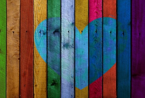 heart on fence inner peace