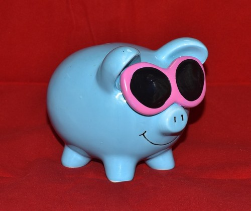 Piggy bank save money life coach linda