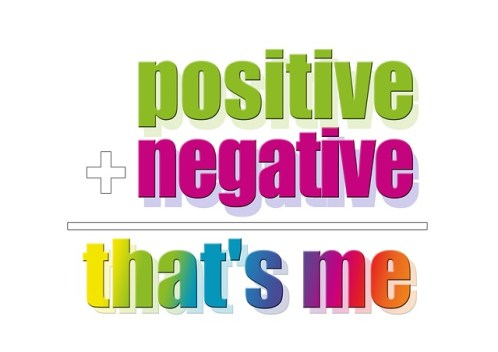 polarized positive negative sign