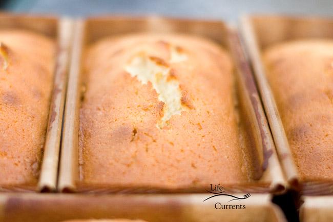 Leftover Eggnog - Eggnog Ice Cream & Eggnog Pound Cake - Eggnog cake before adding the topping