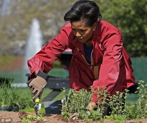 Obama in the White House Garden