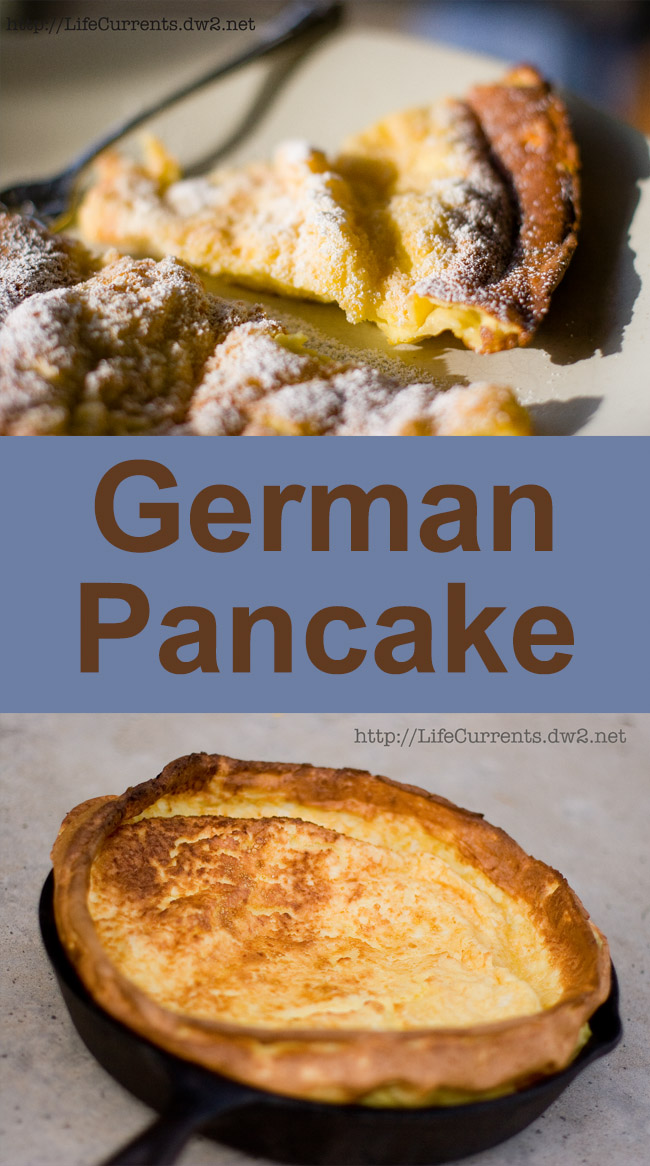 long pin with two images of breakfast Pancake and title in middle