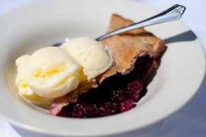 Blackberry Pie with Buttermilk Sherbet