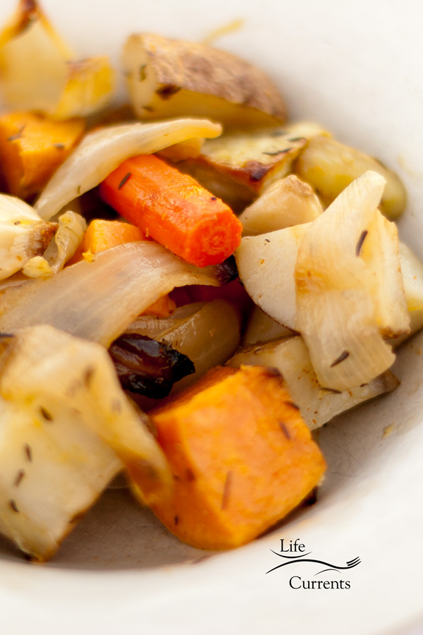 Roasted Veggies - one of my favorite comfort food dishes