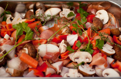 Pacific Northwest Thanksgiving 2010 Menu vegetables