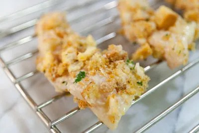 Seafood for the Future - Crispy Baked Catfish Fingers with Buttermilk Herb Sauce catfish