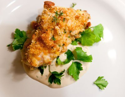 Seafood for the Future - Crispy Baked Catfish Fingers with Buttermilk Herb Sauce