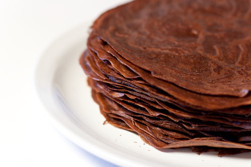 "Darkest Chocolate Crepe Cake or ""what have I gotten my husband into?"""