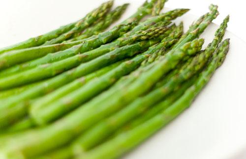 Seared Albacore Tuna served over Roasted Asparagus and Potato Puree asparagus