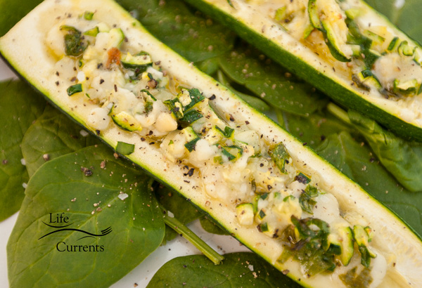 What to do with that Parmesan spread? Or, how to stuff a zucchini