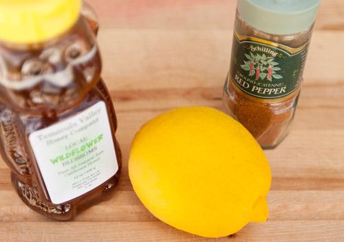 Some things to make you feel better - hot honey lemon