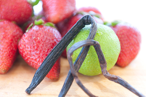 strawberry lime vanilla: This jam perfectly captures those ripe summer strawberries into a sweet spreadable jam with a deep rich flavor from the vanilla. And, the tartness of the lime just gives it that right kick. #strawberry #summer #jam