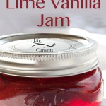 Strawberry-Lime Vanilla Jam great for your morning toast homemade preserves