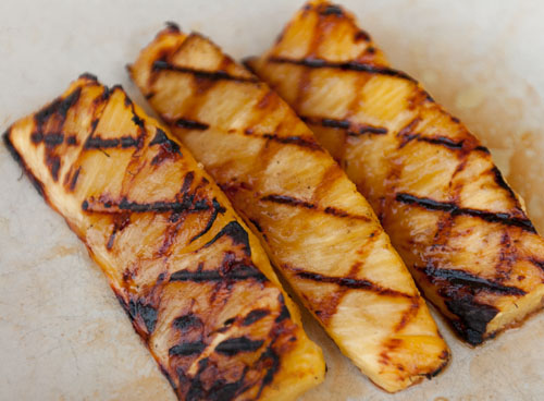 grilled pineapple: Island Trollers Habanero Albacore Tuna Tacos with chimichurri and grilled pineapple slaw